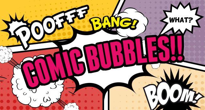漫画デザインに使える!コミック風な吹き出しと効果音の無料素材まとめ
