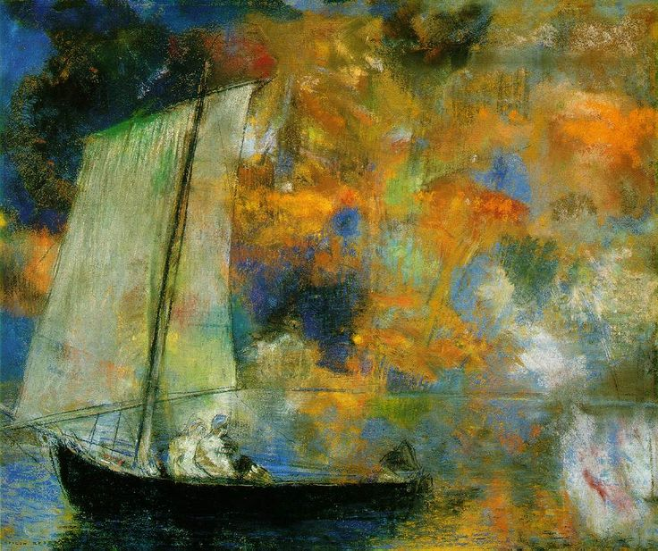 The sky explodes!  Odilon Redon is one of my all time favorites - his work is imaginative, surreal and beautiful.