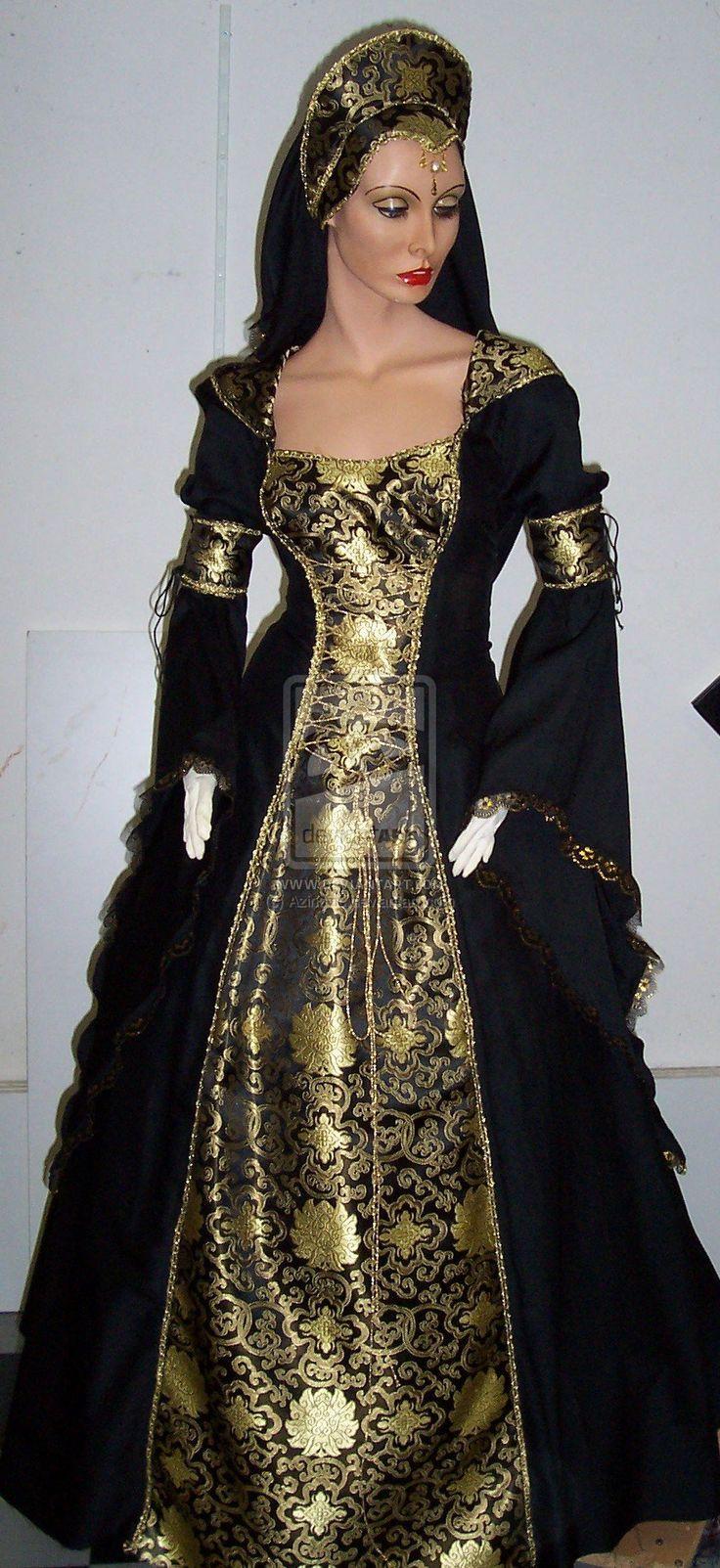 Black-gold dress by Azinovic.deviantart.com on @deviantART I like particulary this one
