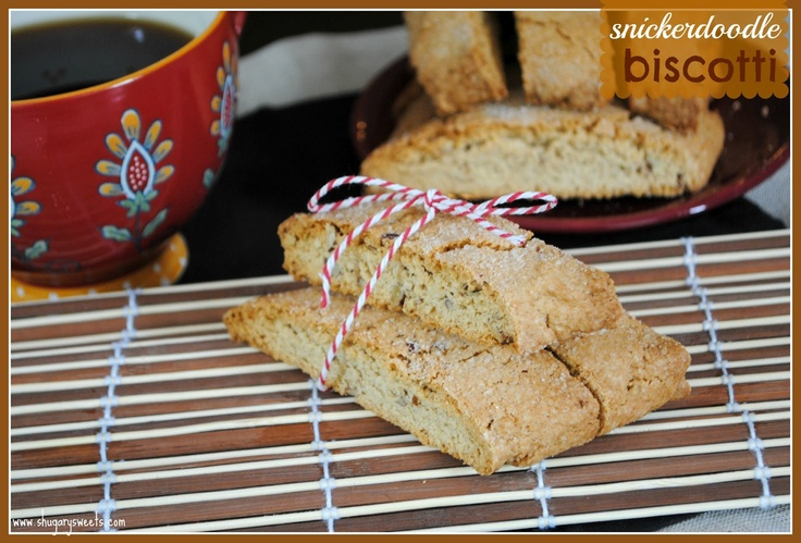 Snickerdoodle Biscotti @shugarysweets #recipe #snickerdoodle EASY!!!