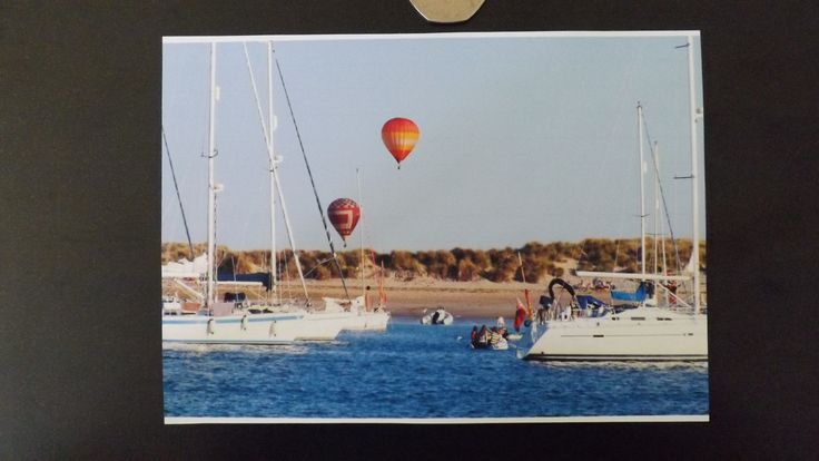 "Balloons Over East Head, Chichester Harbour. Blank Card 5""x7"" £1.75"