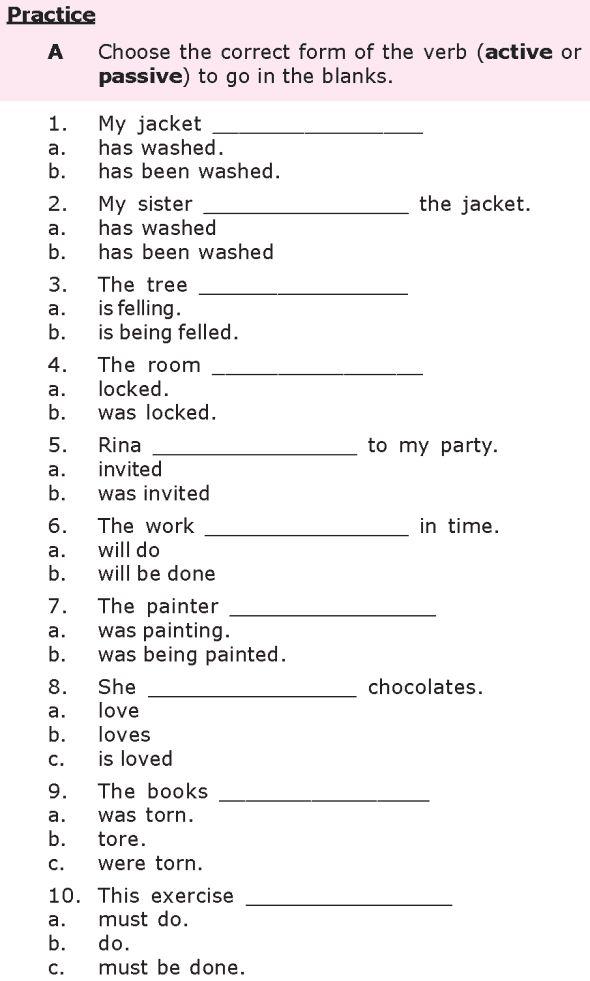 Grade 8 Grammar Lesson 21 Passive Verb Forms Grammar Lessons English Grammar Worksheets English Grammar Exercises