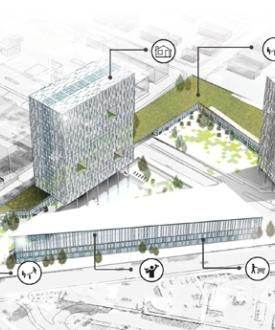 Programs in a mixed use building floor plan google - College of design construction and planning ...