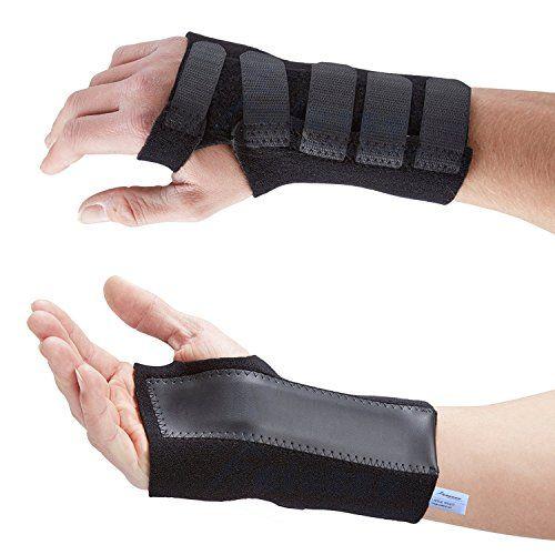 Actesso Advanced Wrist Support / Carpal Tunnel Splint / Black Wrist Brace - Relieve Wrist Pain, Sprains, RSI and Arthritis - NHS Use (Medium, Right)