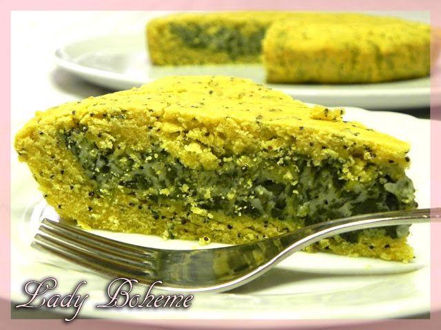 Italian food - Torta con farina di mais, ricotta e bietole