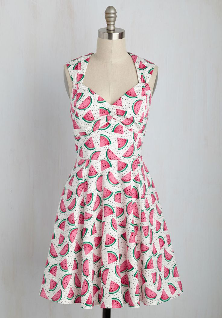Flare Maiden Dress in Melons