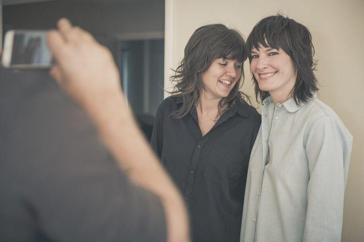 Barnett and her girlfriend, musician Jen Cloher, take one last photo before the awards.