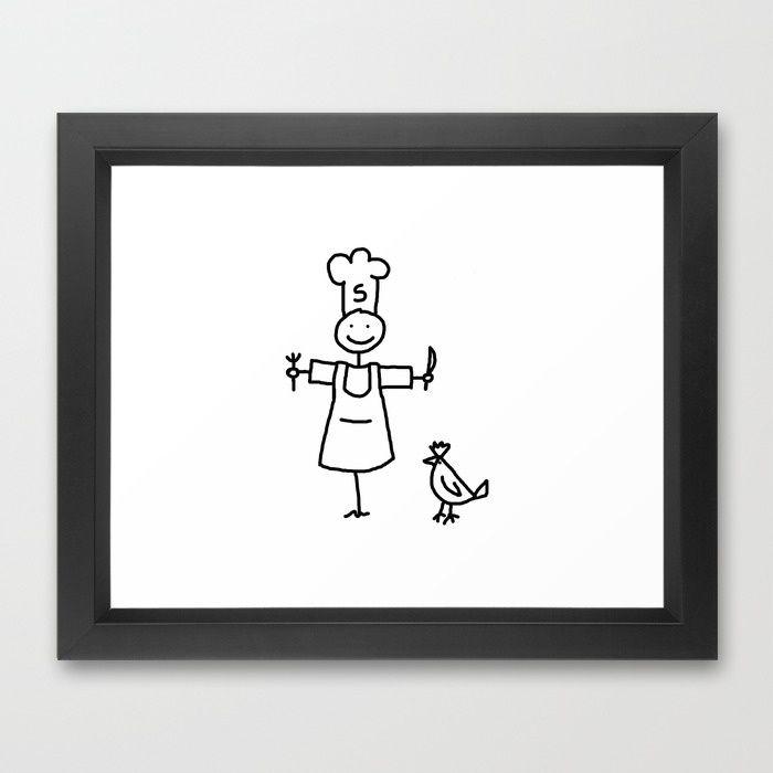 Scarecrow Chef Framed Art Print