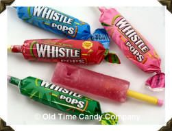 Whistle Pops.  Ever get one that didn't work and it ruined your exciting I-just-got-a-Whistle-Pop moment???  Loved them. Thanks R!!!