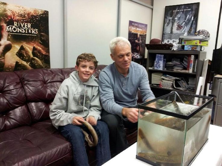 Such an amazing day for my nephew. Got to spend the day hanging out with his idol Jeremy Wade of River  Monsters!