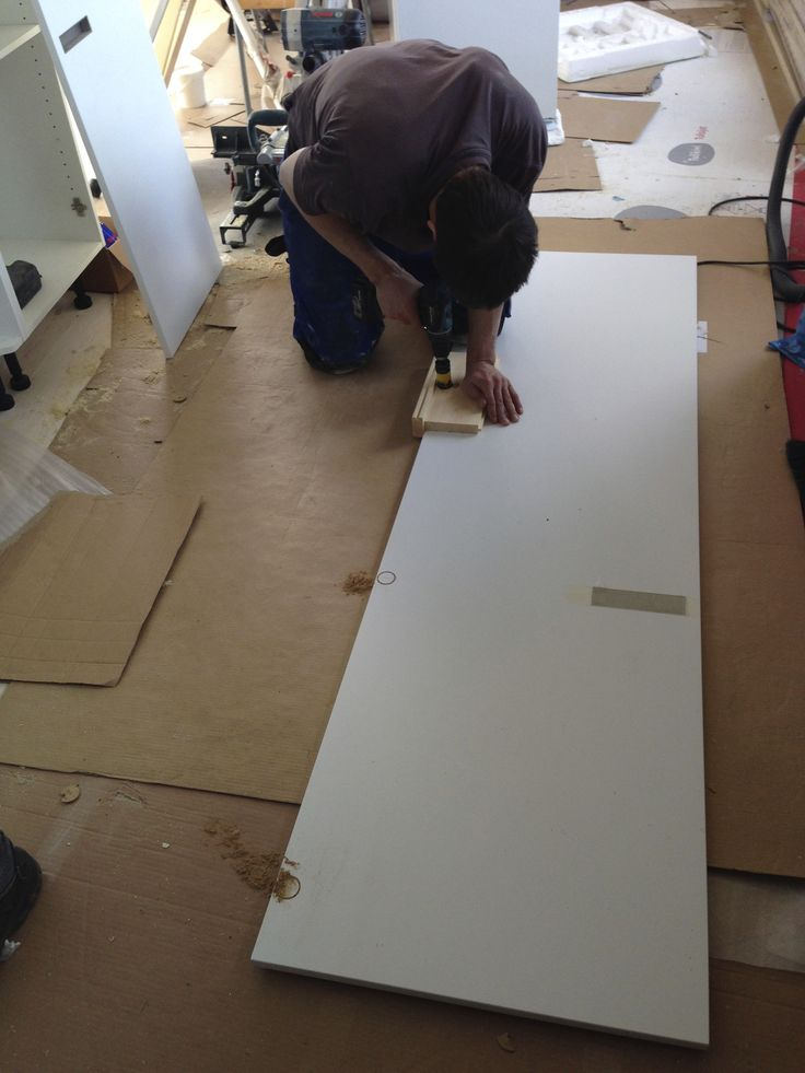 Making holes for Kitchen door. Unexpected task.