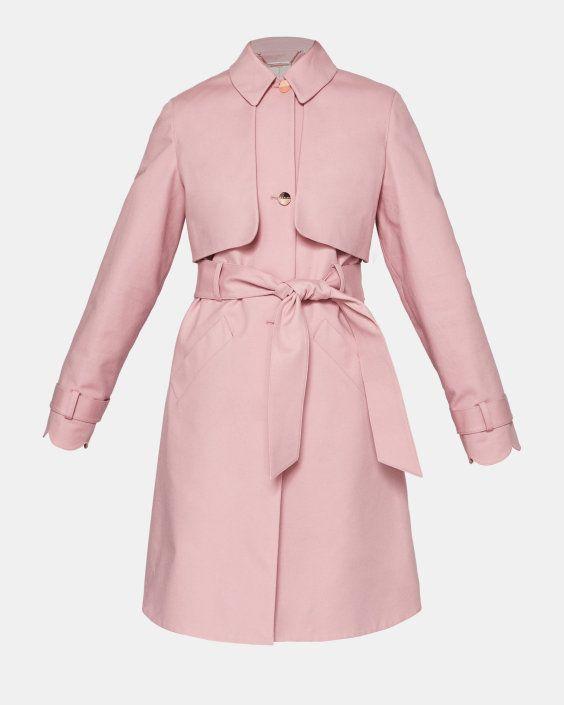 945322c1d70a Scallop detail cotton mac - Pink
