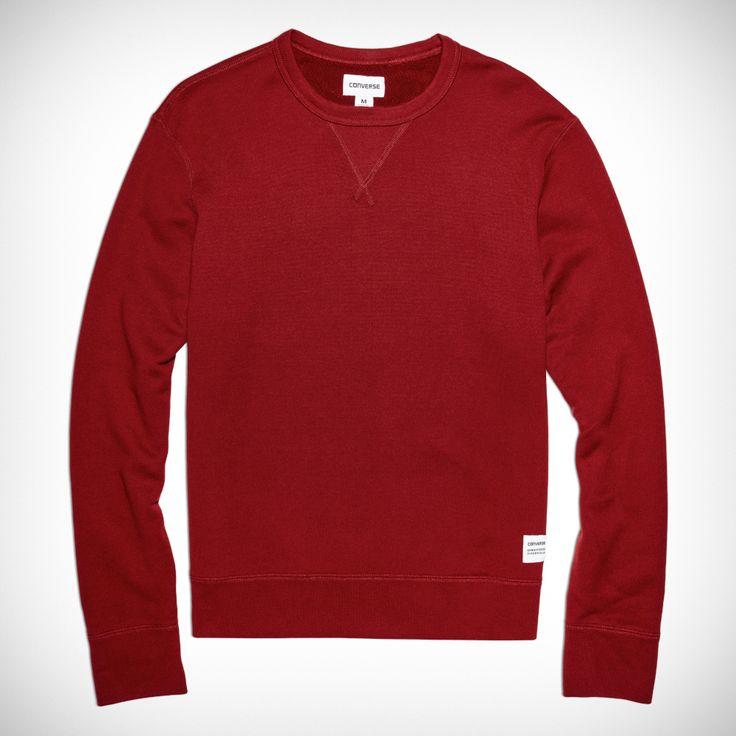 Sweat-shirt col ras du cou Essentials pour homme Rouge vif