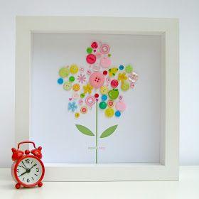 Button art-100 days of school project idea