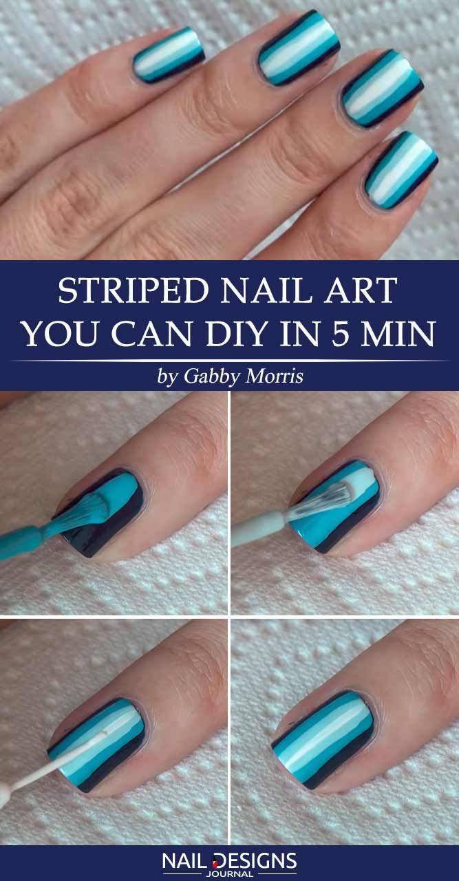 17 Super Easy Nail Designs DIY Tutorials - Best 25+ Striped Nail Designs Ideas On Pinterest Valentine's Day