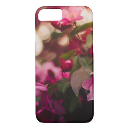 Women's trendy pink and white flower  iphone case - trendy gifts cool gift ideas customize