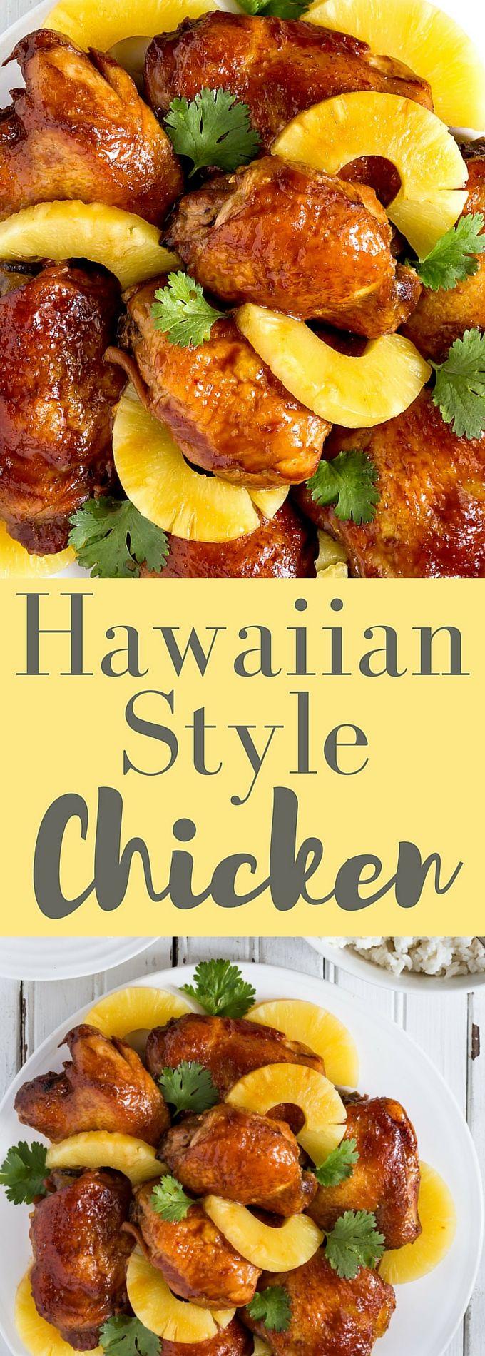 Baked Hawaiian Chicken Thighs
