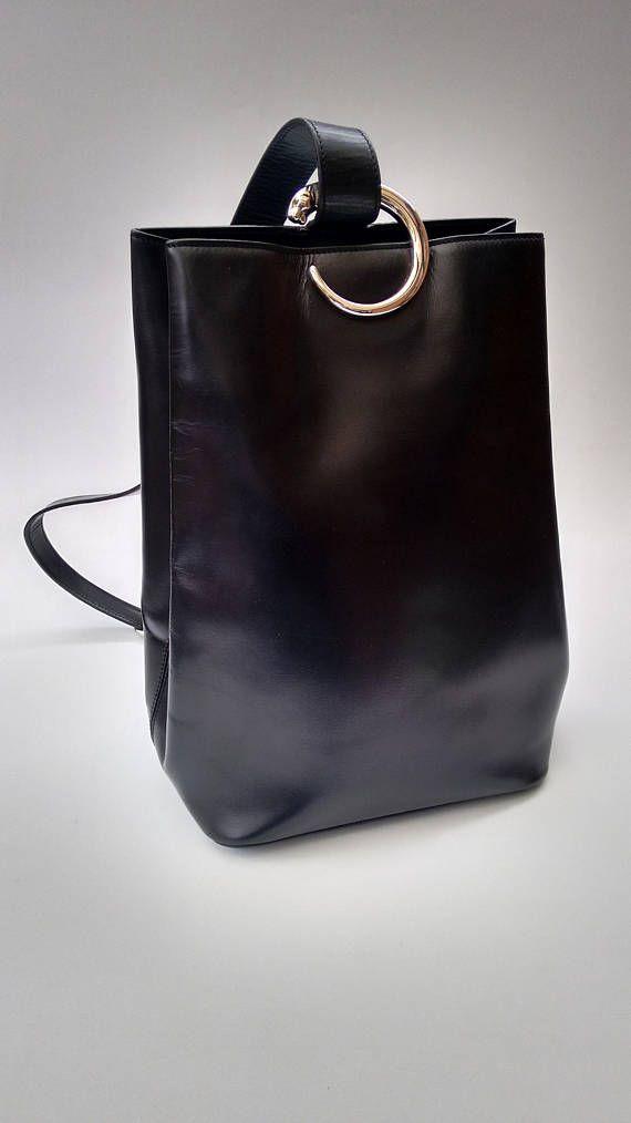 Cartier Black Leather Silver Emblem Evening Shoulder Bag In Box bOTP0QT