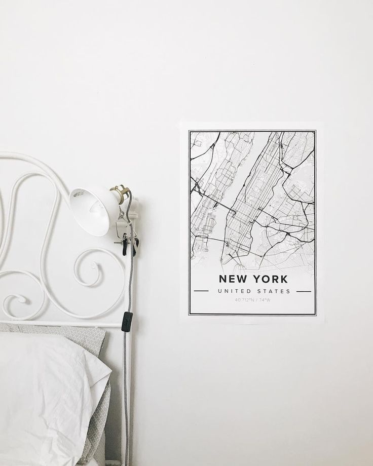Map poster of New York United States