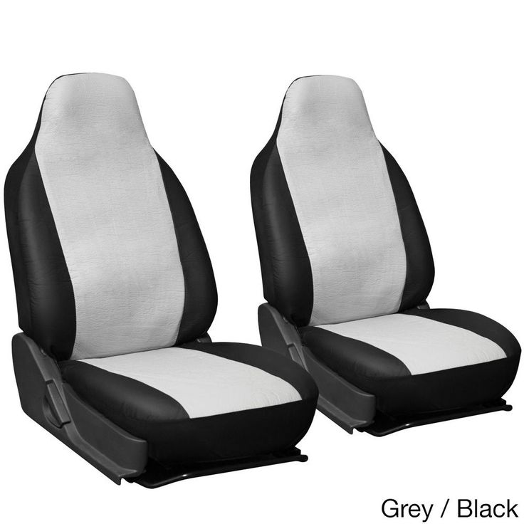 Oxgord Faux Leather Integrated High Back Bucket Seat Covers