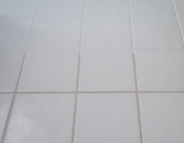 cleaning bathroom tile grout, cleaning tips, home maintenance repairs, tiling, Try it and you can go from this to that with short work Good luck