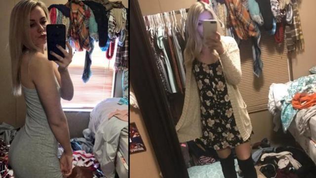 WinNetNews.com - Masih ingat gak dengan wanita yang selfie dengan gaun yang cantik di kamar? Sayangnya dibelakangnya terlihat kamar yang berantakan, tikus yang mati, dan sepatu yang sebenarnya cocok untuk gaun yang ia gunakan. Dan kini, seorang gadis juga melakukan selfie dengan menggunakan gaun yang