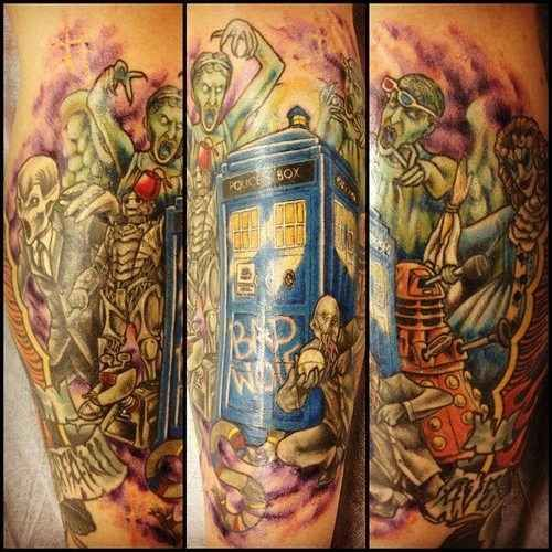 """50 Fantastic """"Doctor Who"""" Tattoos - these are fantastic!!"""