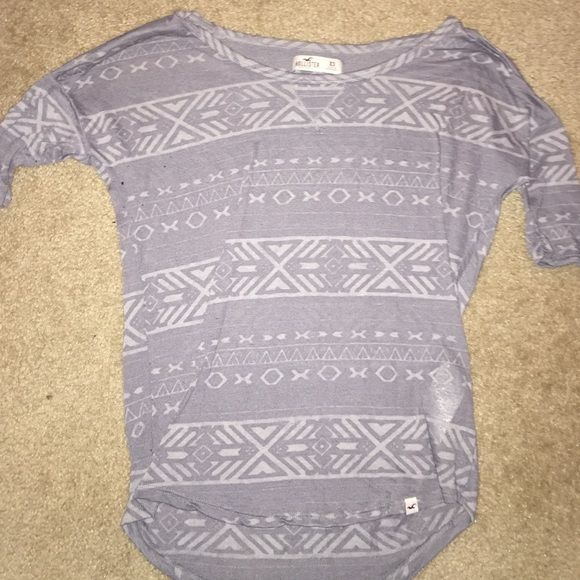 Hollister Aztec shirt Hollister Aztec shirt. Super cute just grew out of it. Great condition Hollister Tops Tees - Short Sleeve
