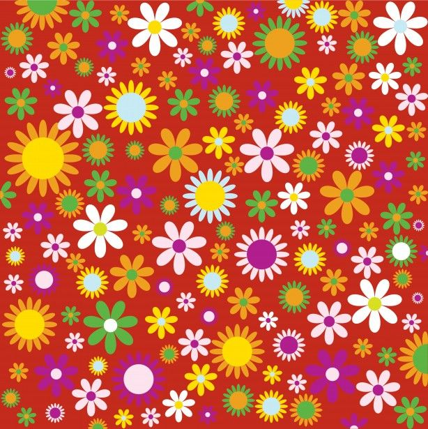 Flowers Floral Background Colorful