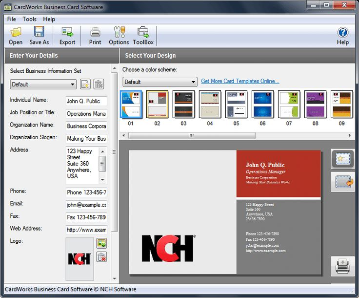Free Business Card Software For Mac search results