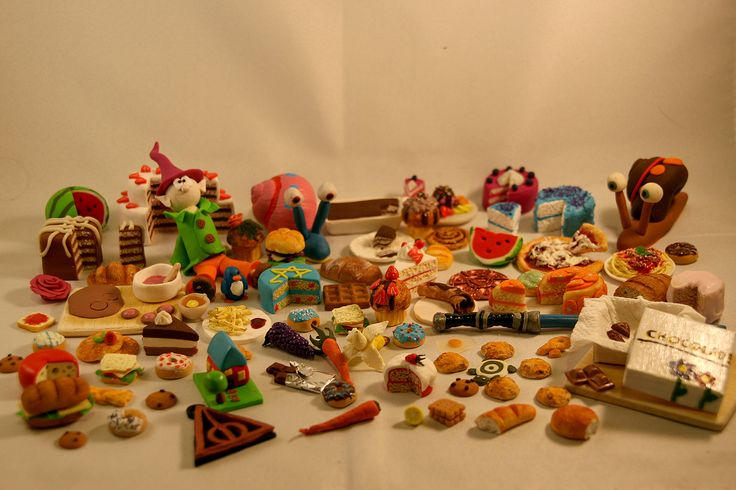 Some miniature - polymer clay