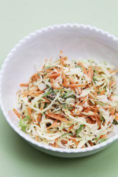 Classic coleslaw with black mustard seeds and greek yogurt dressing #salad #recipe #healthy #veggies