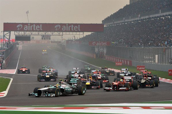 Indian GP 2013  Start of the race