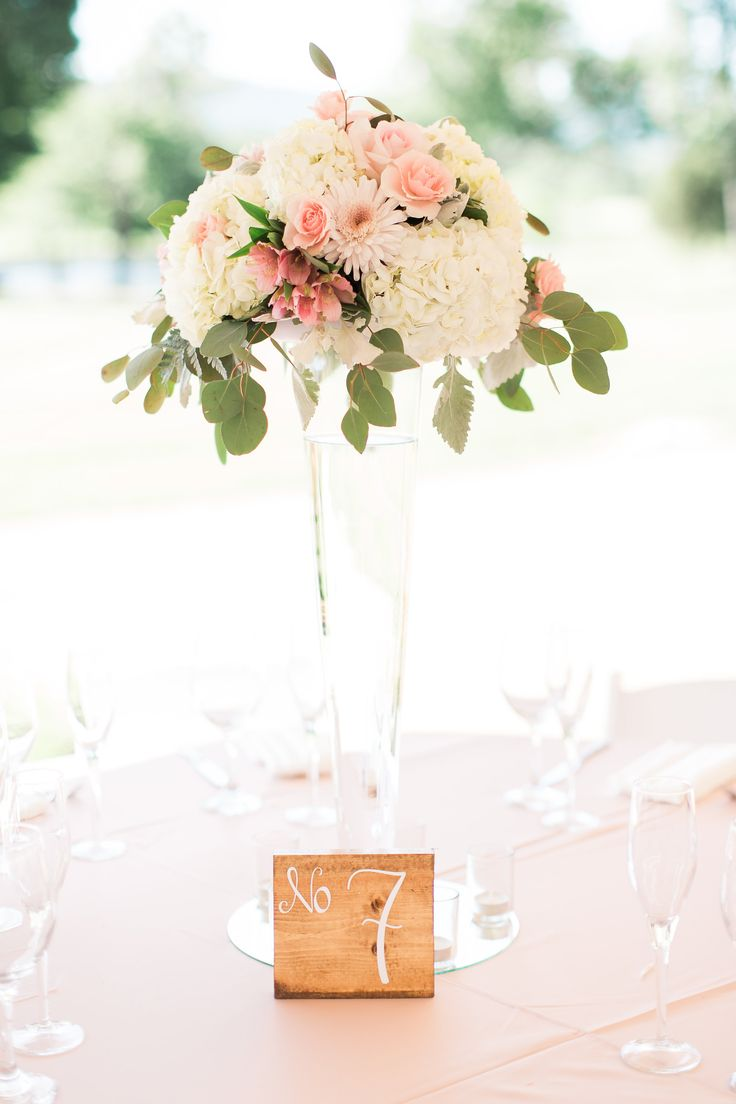 Tall Blush and Ivory Centerpiece