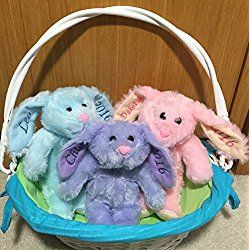 Personalized Easter Bunny, Baby's First Easter, Baby's 1st Easter, Easter Plush, Plush Bunny, Easter Basket Bunny. Easter Basket Filler