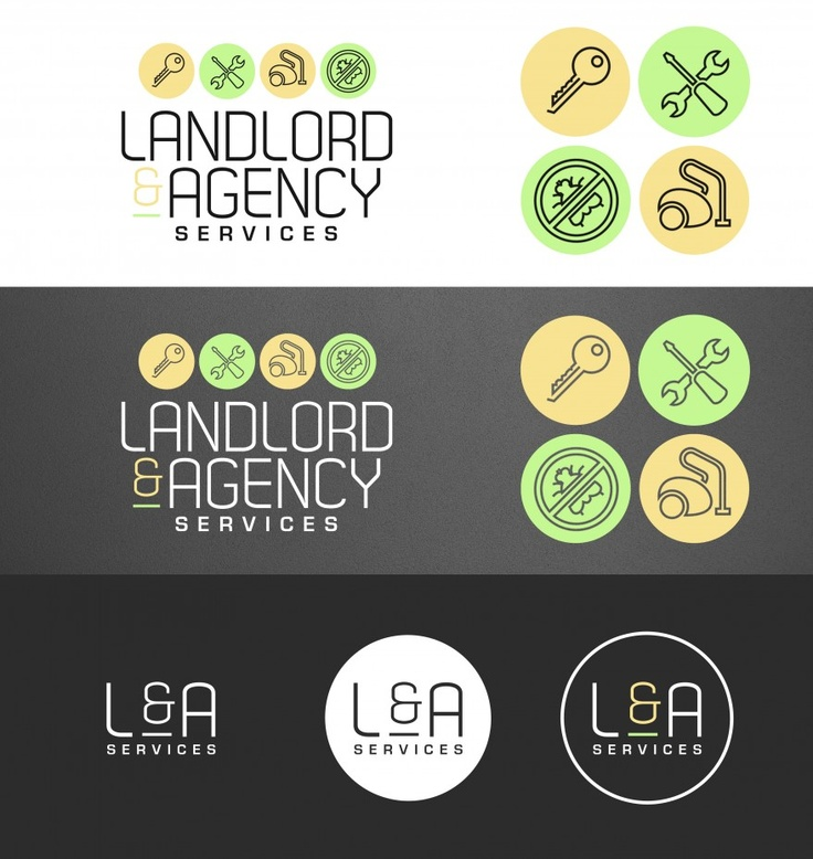 Landlord agency services business branding, logo and business card design