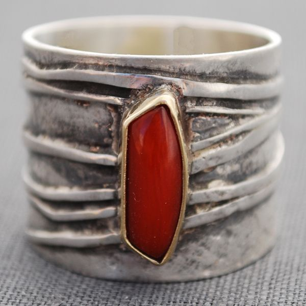 Carla Pennie Jewelry Design – Rings – Natural Red Coral Ring