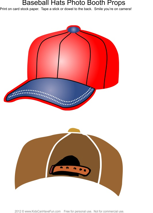 Baseball Hats Photo Booth Props