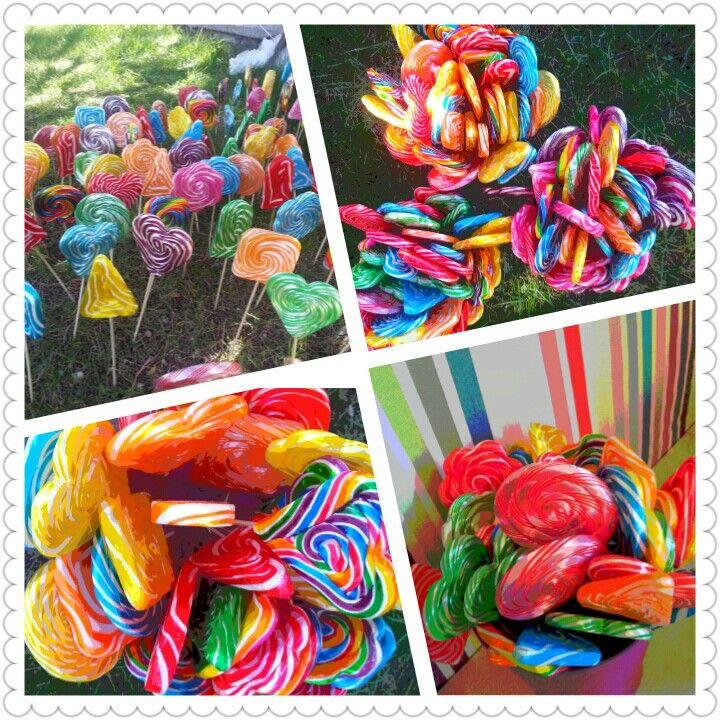 Lollipop şeker, Marshmallow, macun şeker, pamuk şeker, elma şeker,