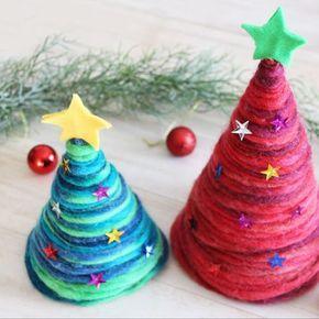 極太毛糸で簡単!手作りクリスマスツリー&パーティー三角帽子