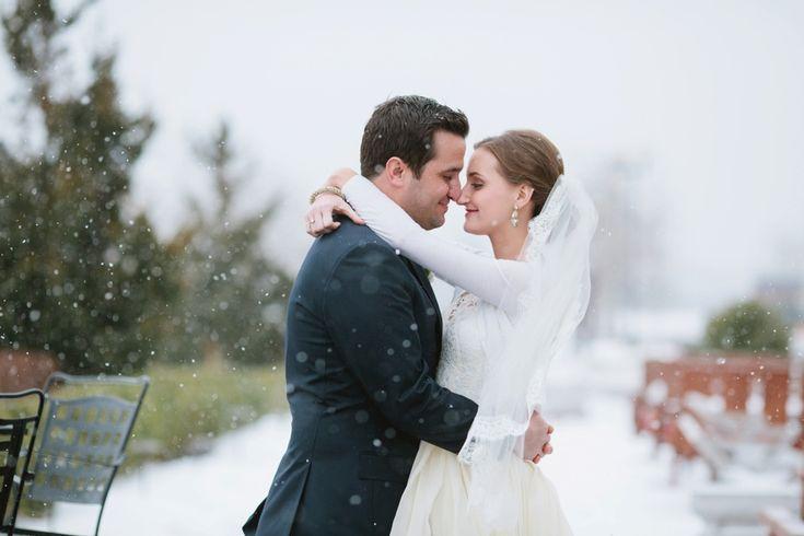 Winter wedding photos at Liberty House in Jersey City #winterwedding #njweddings Photos by www.theweddingcentral.com