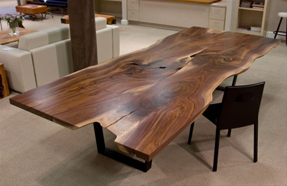 Urban hardwoods furniture seattle walnut dining table for 144 dining table