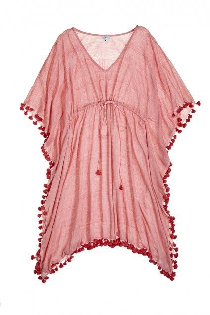 you can't go wrong with a tasseled beach kaftan.