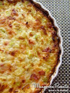 Gratinado de Alho-Poró, receita para um almoço especial para sua família e amigos. Clique na imagem para ver a receita no blog Manga com Pimenta.