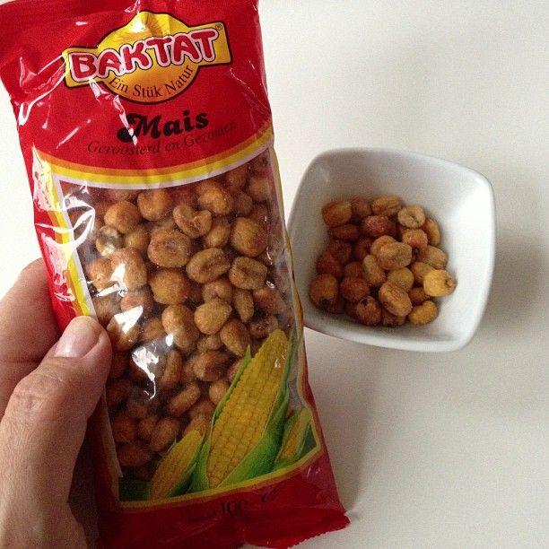 Geroosterde maïskorrels