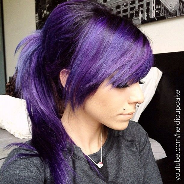 I will not stop trying to get my hair this purple until I get it this purple!!!--- #purplehair #darkpurplehair #extensions