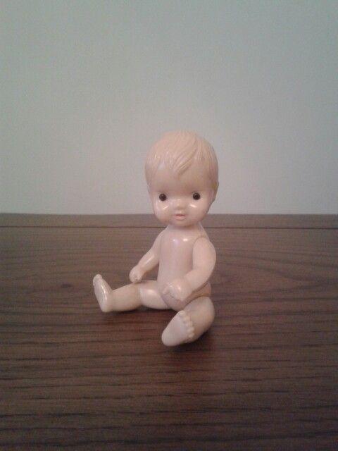Vintage tiny doll 1980 czechoslovakia