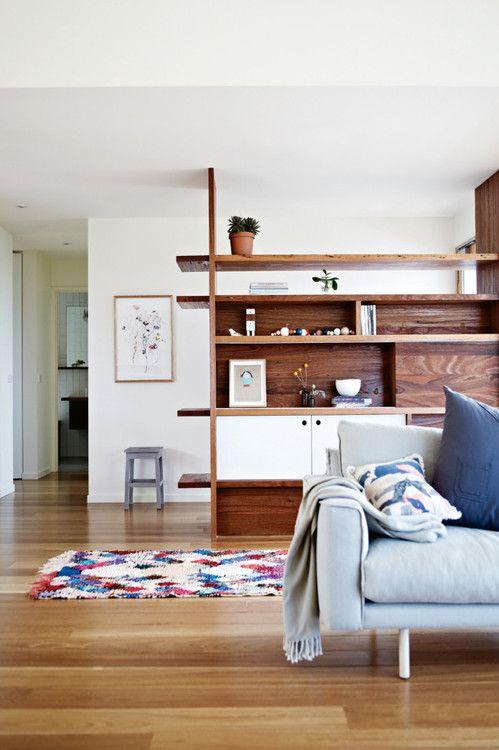 Built In Room Dividing Shelves