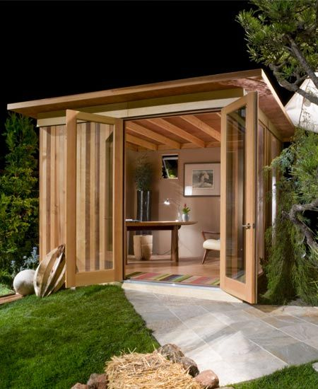 Modern cabana art studios backyards and offices for Garden shed music studio