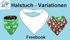 Freebook & kostenloses Schnittmuster: Halstuch-Variationen im PDF-Format plus Videoanleitung http://www.nuckelbox.de/tutorial/freebook_tutorial_wende-halstuch.pdf